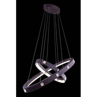 Elegant Lighting InfinityPendant in Brown with Royal Cut Clear Crystal 2097G39BN/RC