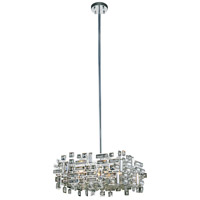 Elegant Lighting V2100D18C/RC Picasso 4 Light 18 inch Chrome Pendant Ceiling Light in Clear