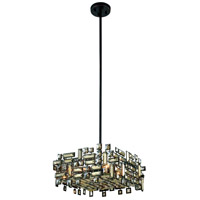 Picasso 4 Light 18 inch Dark Bronze Pendant Ceiling Light in Golden Teak