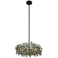 Elegant Lighting 2100D18DB/RC Picasso 4 Light 18 inch Dark Bronze Pendant Ceiling Light in Golden Teak