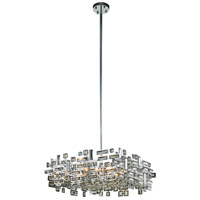 Elegant Lighting V2100D21C/RC Picasso 6 Light 21 inch Chrome Pendant Ceiling Light in Clear