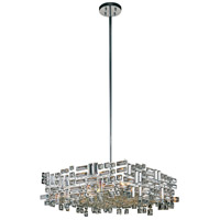 Elegant Lighting V2100D24C/RC Picasso 6 Light 24 inch Chrome Pendant Ceiling Light in Clear