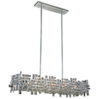 Picasso 8 Light 14 inch Chrome Pendant Ceiling Light in Clear