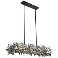 Elegant Lighting 2100G44DB/RC Picasso 8 Light 14 inch Dark Bronze Pendant Ceiling Light in Golden Teak