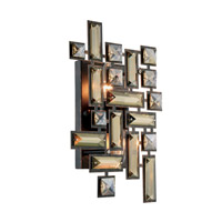 Picasso 2 Light 8 inch Dark Bronze Wall Sconce Wall Light in Golden Teak