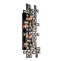 Elegant Lighting Picasso 4 Light Wall Sconce in Dark Bronze with Royal Cut Golden Teak (Smoky) Crystal 2100W22DB/RC
