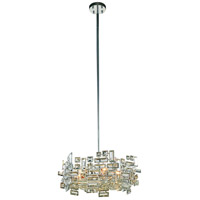 Elegant Lighting V2101D20C/RC Picasso 6 Light 20 inch Chrome Pendant Ceiling Light in Clear