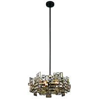 Elegant Lighting 2101D20DB/RC Picasso 6 Light 20 inch Dark Bronze Pendant Ceiling Light in Golden Teak