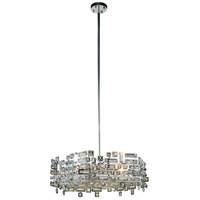 Elegant Lighting V2101D24C/RC Picasso 6 Light 24 inch Chrome Pendant Ceiling Light in Clear