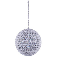 Elegant Lighting CabaretPendant in Chrome with Royal Cut Clear Crystal 2102D14C/RC