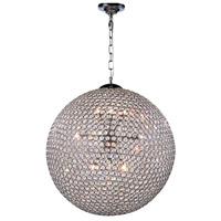 Elegant Lighting V2102D24C/RC Cabaret 12 Light 24 inch Chrome Pendant Ceiling Light