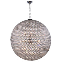 Elegant Lighting V2102D36C/RC Cabaret 18 Light 36 inch Chrome Pendant Ceiling Light