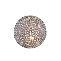 Elegant Lighting V2102WF12C/RC Cabaret 2 Light Chrome Convertible Wall Ceiling Flush Mount Wall Light