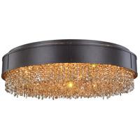Elegant Lighting 2103DF30MDB-GT/RC Regency 9 Light 30 inch Matte Dark Brown Pendant Flush Combo Mount Ceiling Light