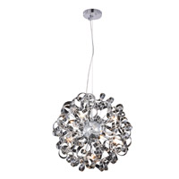 Elegant Lighting 2104D24C Ritz 9 Light 24 inch Chrome Pendant Ceiling Light