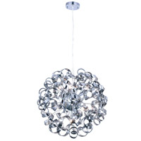 Ritz 9 Light 24 inch Silver Shade Pendant Ceiling Light