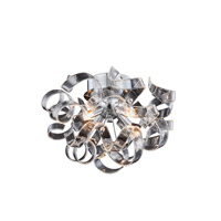Elegant Lighting 2104F14C Ritz 4 Light 14 inch Chrome Flush Mount Ceiling Light