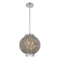 Brida 3 Light 12 inch Chrome Pendant Flush Combo Mount Ceiling Light
