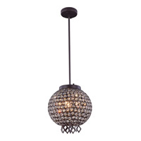 Brida 3 Light 12 inch Matte Dark Brown Pendant Flush Combo Mount Ceiling Light