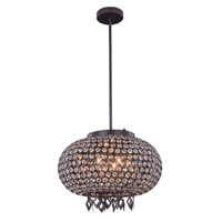 Brida 5 Light 17 inch Matte Dark Brown Pendant Flush Combo Mount Ceiling Light