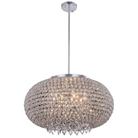 Brida 9 Light 24 inch Chrome Pendant Flush Combo Mount Ceiling Light