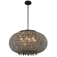Brida 9 Light 24 inch Matte Dark Brown Pendant Flush Combo Mount Ceiling Light
