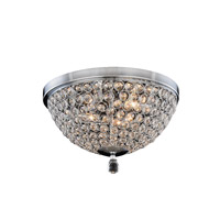 Brida 4 Light 14 inch Chrome Flush Mount Ceiling Light