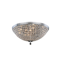 Elegant Lighting Brida 9 Light Flush Mount in Chrome with Royal Cut Clear Crystal 2106F21C/RC