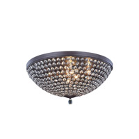 Elegant Lighting Brida 9 Light Flush Mount in Matte Dark Brown with Royal Cut Clear Crystal 2106F21MDB/RC