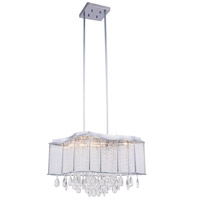 Aspen 10 Light 20 inch Chrome Chandelier Ceiling Light, Royal Cut Clear Crystal