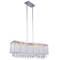 Aspen 12 Light 10 inch Chrome Chandelier Ceiling Light, Royal Cut Clear Crystal