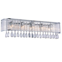 Aspen 5 Light 30 inch Chrome Vanity Wall Light, Royal Cut Clear Crystal