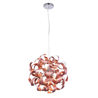 Fusion 7 Light 17 inch Brushed Copper Pendant Ceiling Light