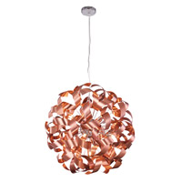 Fusion 9 Light 25 inch Brushed Copper Pendant Ceiling Light