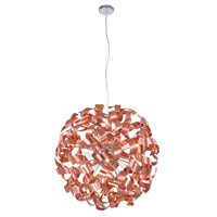 Fusion 12 Light 32 inch Brushed Copper Pendant Ceiling Light