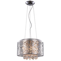Elegant Lighting Finley 7 Light Pendant Flush Combo Mount in Chrome with Royal Cut Clear Crystal 2113DF16C/RC