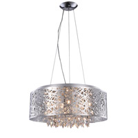 Finley 9 Light 24 inch Chrome Pendant Flush Combo Mount Ceiling Light