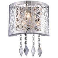 Elegant Lighting 2113W8C/RC Finley 1 Light 8 inch Chrome Wall Sconce Wall Light