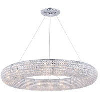 Elegant Lighting 2114G41C/RC Paris 18 Light 41 inch Chrome Chandelier Ceiling Light, Royal Cut Clear Crystal