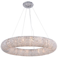 Elegant Lighting 2114G52C/RC Paris 20 Light 52 inch Chrome Chandelier Ceiling Light
