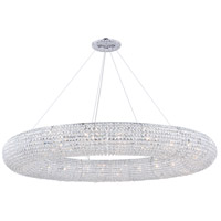 Elegant Lighting 2114G59C/RC Paris 24 Light 59 inch Chrome Chandelier Ceiling Light, Royal Cut Clear Crystal