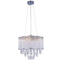 Noble 7 Light 16 inch Chrome Chandelier Ceiling Light, Royal Cut Clear Crystal