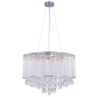 Noble 9 Light 24 inch Chrome Chandelier Ceiling Light, Royal Cut Clear Crystal
