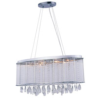 Noble 6 Light 10 inch Chrome Chandelier Ceiling Light, Royal Cut Clear Crystal