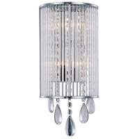 Noble 2 Light 7 inch Chrome Vanity Wall Light, Royal Cut Clear Crystal