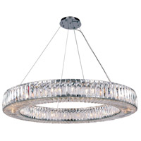 Cuvette 24 Light 43 inch Chrome Chandelier Ceiling Light, Royal Cut Clear Crystal
