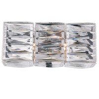Elegant Lighting 2117W14C/RC Cuvette 2 Light 14 inch Chrome Vanity Wall Light Royal Cut Clear Crystal