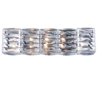 Cuvette 5 Light 24 inch Chrome Vanity Wall Light, Royal Cut Clear Crystal