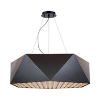Uptown 10 Light 32 inch Flat Black and Gold Chandelier Ceiling Light