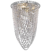 Elegant Lighting Tranquil 4 Light Flush Mount in Chrome with Swarovski Strass Clear Crystal 2525F14C/SS
